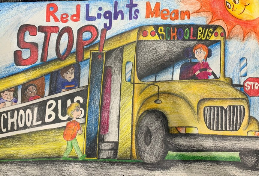 2019 National Association for Pupil Transportation Poster Contest Overall Winner, Bryan Torres-Tavarez, 11th Grade, Stars Academy, Paterson, NJ
