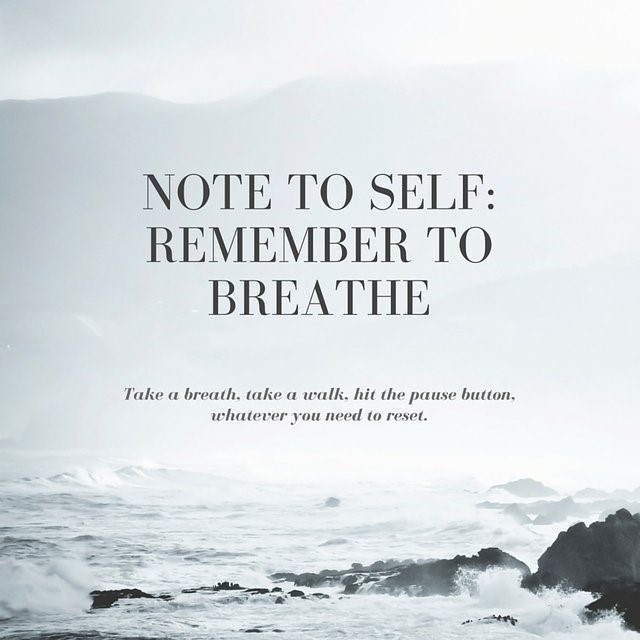 NOTE TO SELF: Remember to Breathe – Maine DOE Newsroom