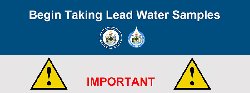 Lead Water Sampling Begins on October 1st – Info, Training, and Resources Available