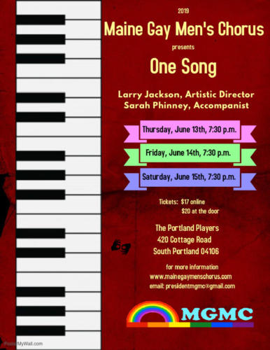 "Pride 2019 ""One Song"" Poster"