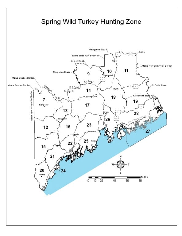 Maine Hunting Zone Maps  Registered Maine Guides