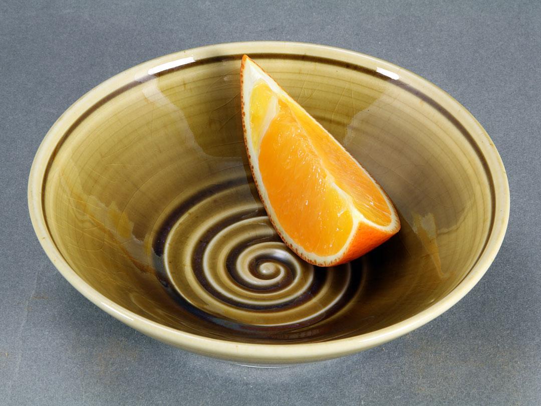 Amber Celadon Spiral Bowl