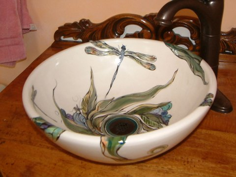 Nancy Salamon Decorated Bisque Vessel