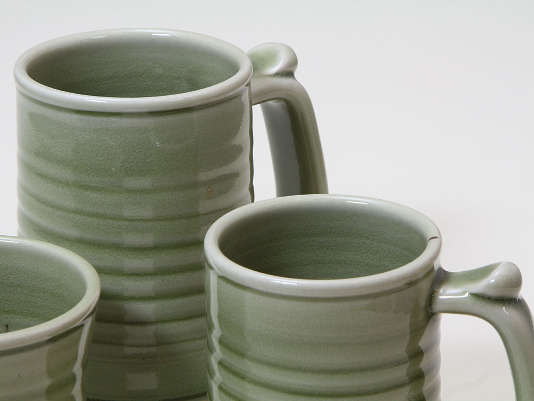 Porcelain Celadon Tankard Group