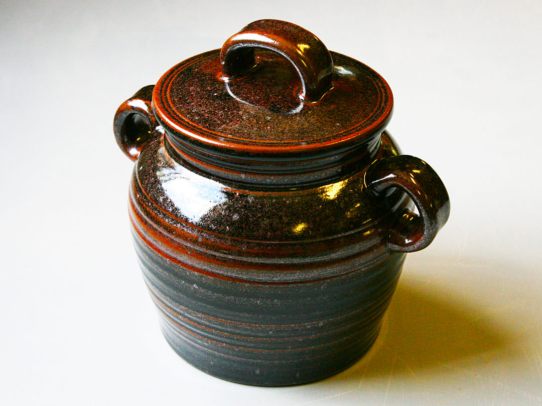Tenmoku Bean Pot
