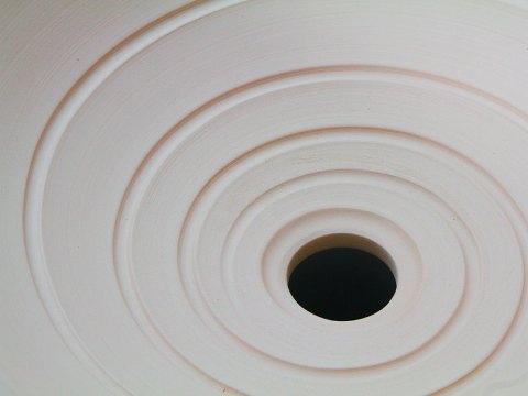 Bisque Stoneware Vessel Sink With Spiral