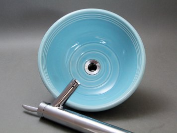 Porcelain Vessel Sink — Sky Blue Celadon