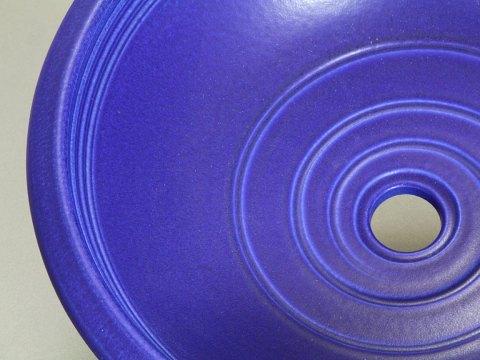 Porcelain Rim Sink — Blue Cobalt