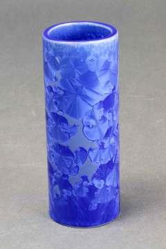 Cobalt Crystalline Tube Vase