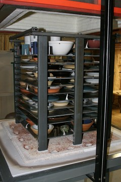 Time to unload another kiln!
