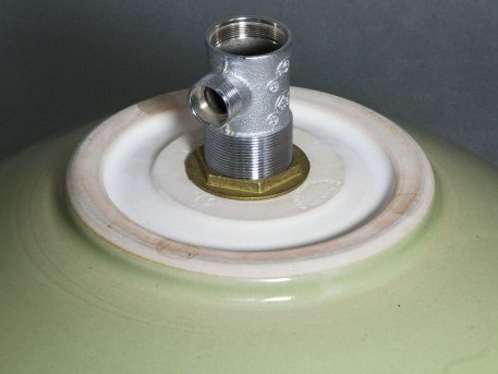 "Green Celadon 16"" Vessel Sink"