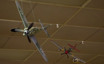 German FW-190 being chased by a P-51 of the famous Tuskegee Airmen.
