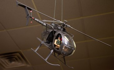 """Little Bird"" helicopter ""Death Waits In The Dark"""