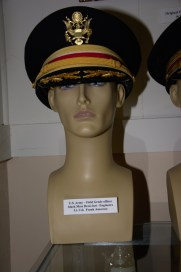 US Army field grade engineer officer's black mess dress hat worn by Lt. Col. Frank Amoroso.