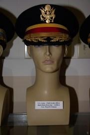US Army Field Grade Artillery officer black mess dress hat worn by Col. Floyd H. Kinnan.