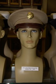 US Army enlisted service hat in Summer Tan from 1943.
