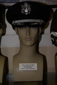 Vietnam War US Air Force Field Grade officer's black mess dress hat worn by Col. Jack Bomar, POW 02-04-1967 to 04-04-1973.