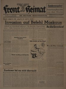 German Newspaper reporting about Normandy.