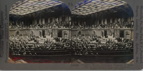 President Wilson Addressing Congress