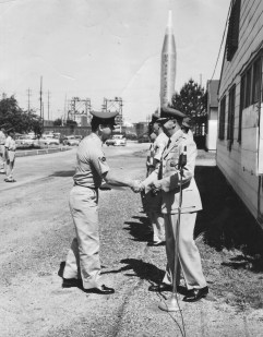 -The Beginning- Lee Humiston with his commander at Wright-Patterson AFB.