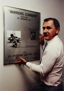 Lee Humiston's first major display, Warrior Corridor, on Norton AFB in Southern California in 1985.