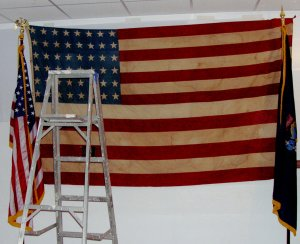 The World War II Battle Flag that went in at Normandy and