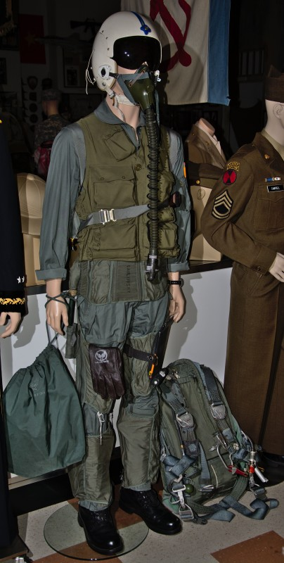 Complete USAF fighter pilot's flight suit.