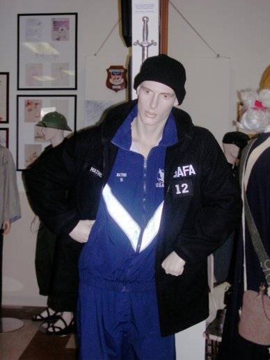USAF Academy Cadet in winter gym clothes