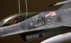 "The art on an F-16 during ""Operation Iraqi Freedom""."