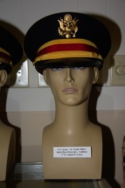US Army Junior Grade Artillery officer black mess dress hat worn by 1st Lt. James E. Corey.