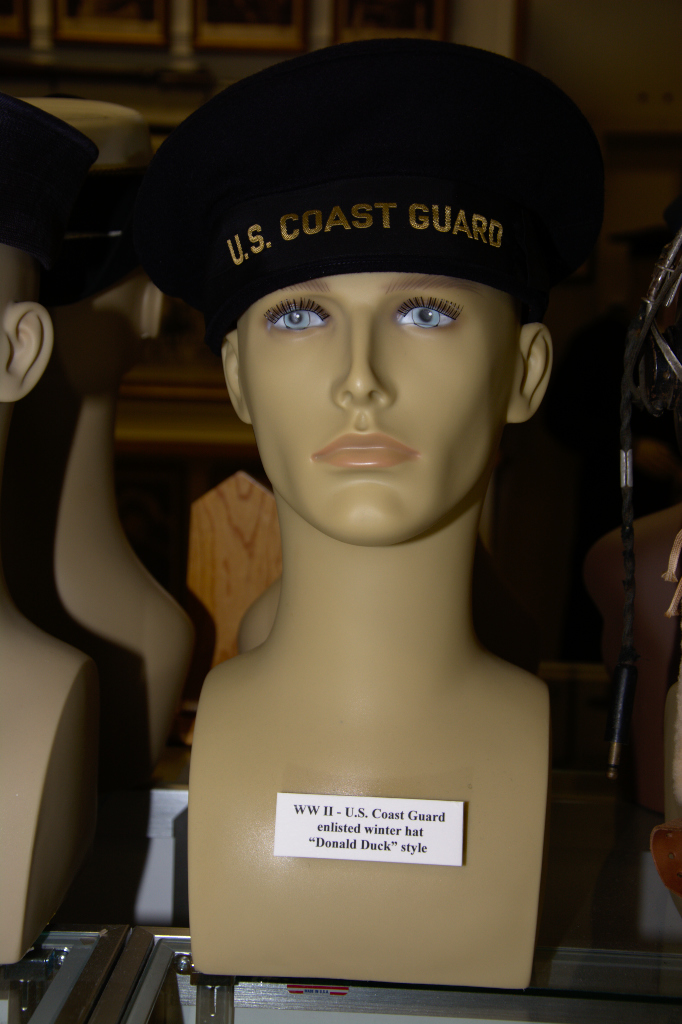 World War II US Coast Guard enlisted winter hat in ''Donald Duck'' style.