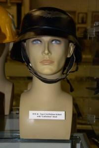 World War II Nazi Civil Defense helmet with ''Luftschutz'' decal