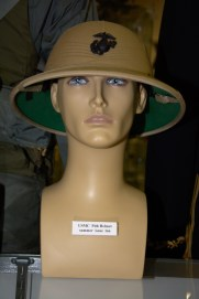 US Marine Corps pith helmet, summer issue, in tan.