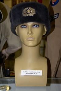 Cold War era East German Army enlisted winter fur hat.