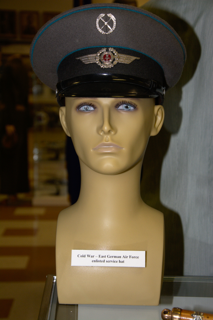 Cold War era East German Air Force enlisted service hat.