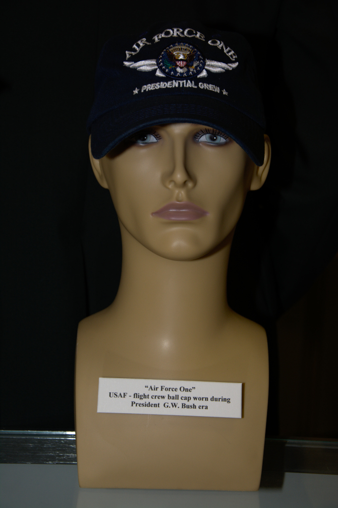 Air Force One US Air Force flight crew cap worn during President G. W. Bush era.