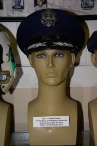 US Air Force General Officer 17th Air Commander's service hat worn by Major General Bud Breckner, POW 07-30-1972 to 03-29-1973.