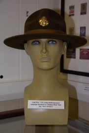 Cold War era US Army Drill Instructor campaign hat, ''Smokey Bear'', worn by Sgt. Steve Webster.