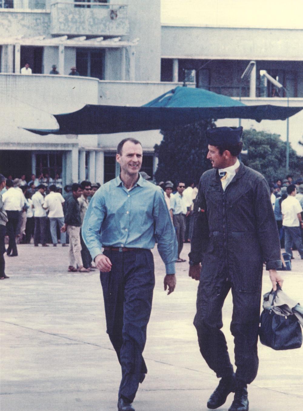 Jim Hickerson leaving Hanoi March 14 1973