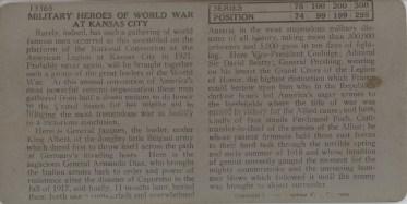 Military Heroes of World War at Kansas City