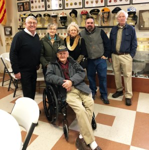 92 year old WWII veteran visits with his family