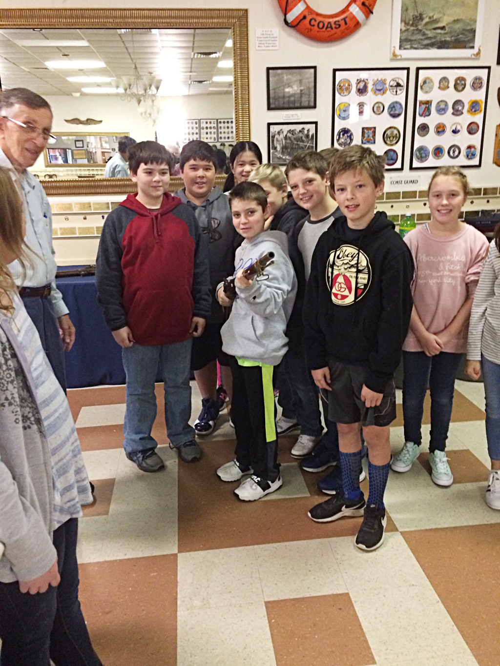 Mahoney Middle School students visit in 2017