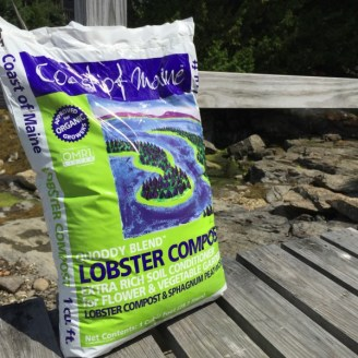 A bag of Coast of Maine's lobster compost.