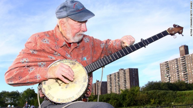 Folk legend Pete Seeger died Monday at 94, his grandson said.