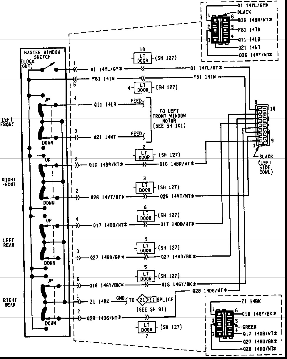 1997 Dodge Dakota Headlight Switch Wiring Schematic 00 Diagram