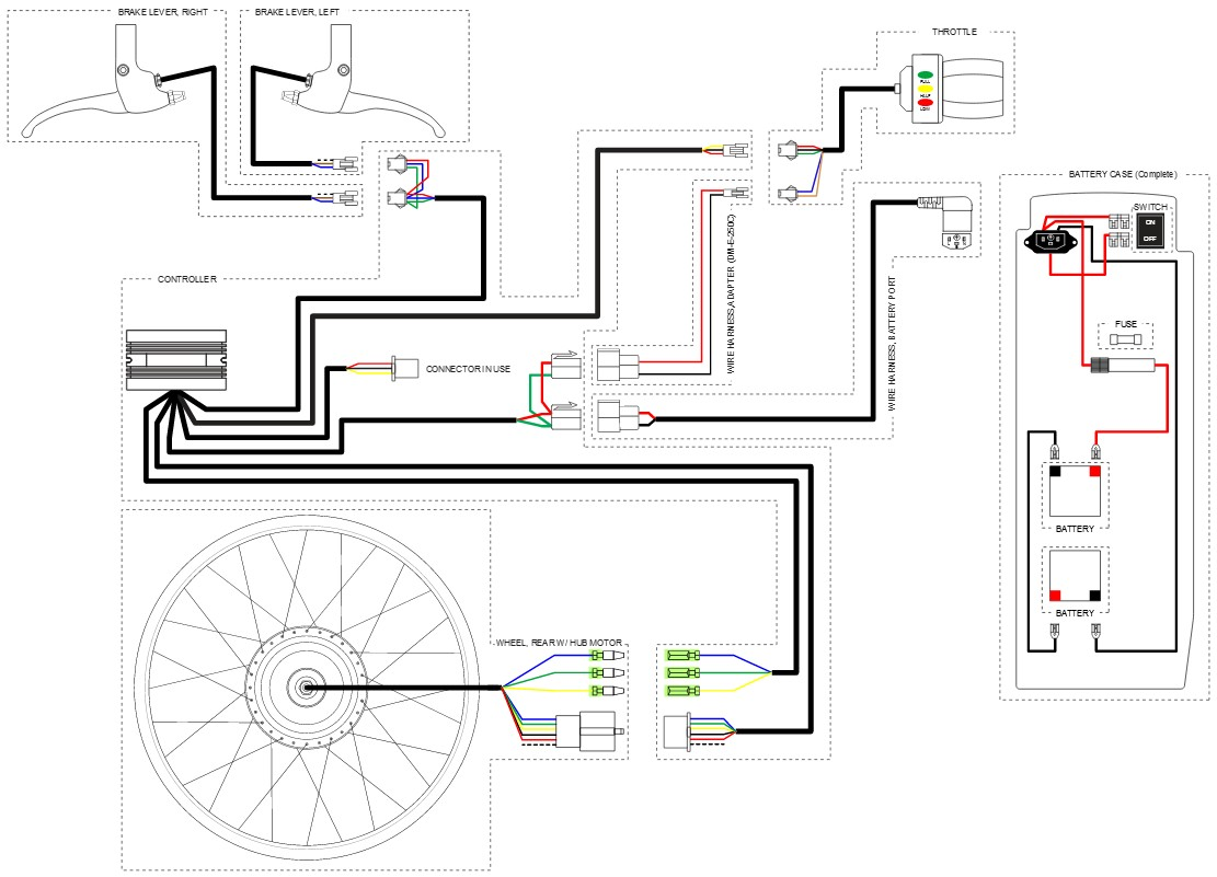 Electric Bike Controller Circuit Diagram