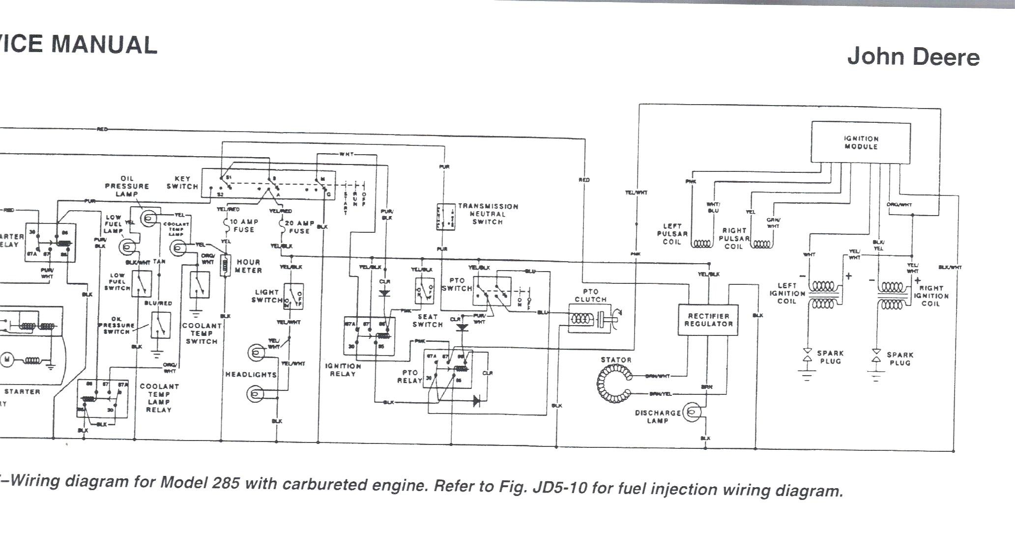 John Deere Z245 Wiring Diagram. electrical diagram for