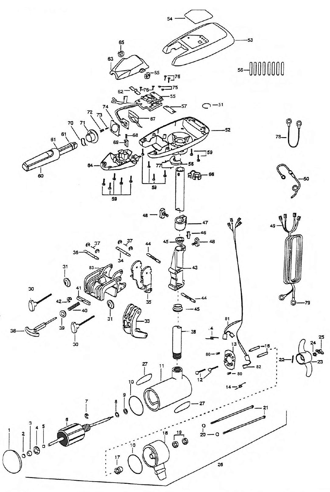 minn kota bow mount trolling motor parts