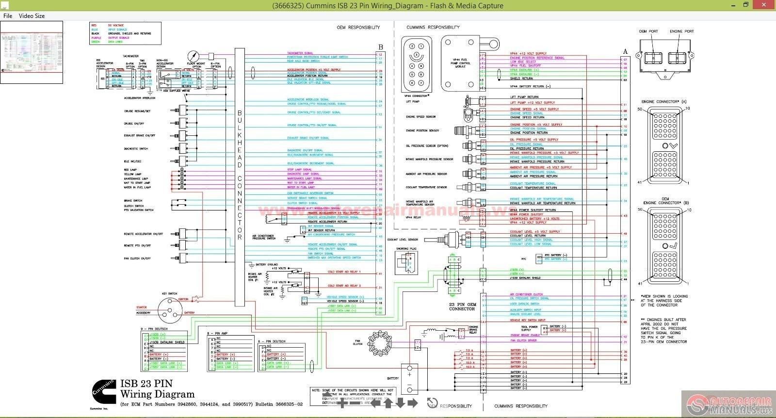 Cummins Engine Ecm Wiring Diagrams
