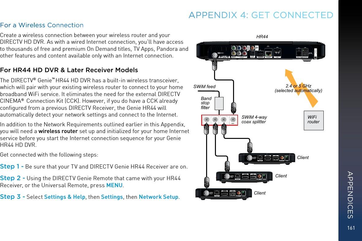 Directv Wiring Diagram Swm Internet For Rvu Wire Center U Linewired Co Genie Components Installation